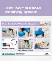 DuoFlow™ bi-lumen breathing system pre-use check poster
